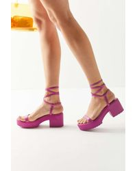 e126bed7ff4 Urban Outfitters - Uo Claire Lace-up Platform Sandal - Lyst