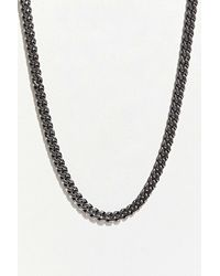 Icon Brand Stainless Steel Chain Necklace - Metallic