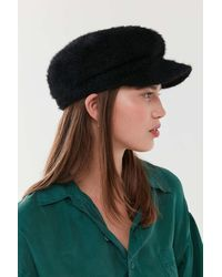2df41f80d Urban Outfitters Fuzzy Faux Fur Trapper Hat in Black - Lyst