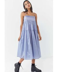 Urban Outfitters - Uo Chelsea Tiered Ruffle Midi Dress - Lyst