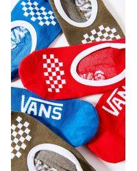 Vans Vans Classic Canoodle No-show Liner Sock 3-pack - Red