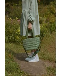 Hvisk Valley Quilted Mini Tote Bag - Green