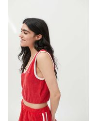 iets frans... Terry V-neck Tank Top - Red