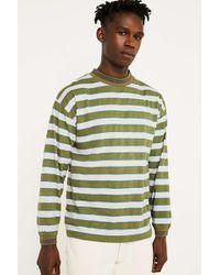 Urban Renewal Vintage Surplus '90s Stripe Green Long-sleeve T-shirt