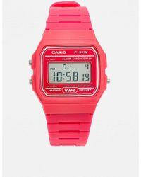 G-Shock - Pink Digital Watch - Womens All - Lyst