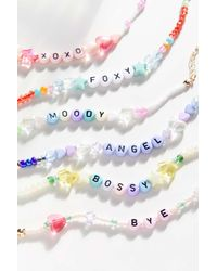 Urban Outfitters Angel Beaded Bracelet - Multicolor
