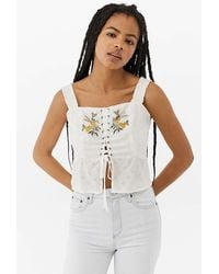 Urban Outfitters - Uo Marlyn Broderie Cami - Lyst