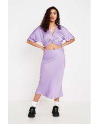 Urban Outfitters - Uo Lilac Satin Bias-cut Midi Skirt - Womens S - Lyst