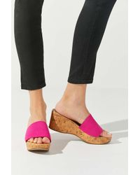 Urban Outfitters Uo Heather Cork Wedge - Multicolor