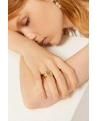 Urban Outfitters Demi Signet Ring Set - Metallic