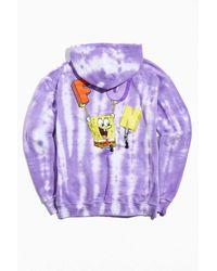 Urban Outfitters Spongebob Squarepants F.u.n. Tie-dye Hoodie Sweatshirt - Purple