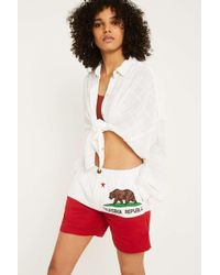 Urban Renewal Vintage Originals Chubbies California Republic Shorts - Red