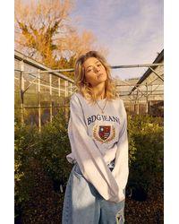 BDG Embroidered Crest Sweatshirt - Grey