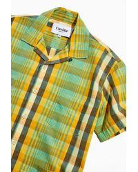 Corridor NYC Madras Cotton Summer Button-down Shirt - Metallic