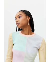 The Ragged Priest Solstice Cropped Sweater - Multicolor