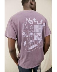 Urban Outfitters Uo Washed Purple Nature T-shirt