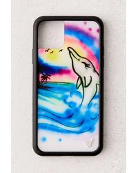 Wildflower Uo Exclusive Maui Airbrush Iphone Case - Blue