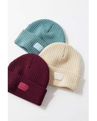 Urban Outfitters Uo Rib Knit Beanie - Multicolor