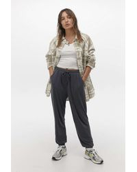 Urban Outfitters Uo Black Cupro Jogger Pant