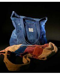 BDG Patchwork Corduroy Tote Bag - Blue