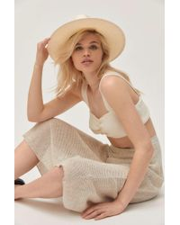 Urban Outfitters Uo Straw Panama Hat - Natural