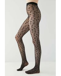 Urban Outfitters Uo Ditsy Floral Tight - Black