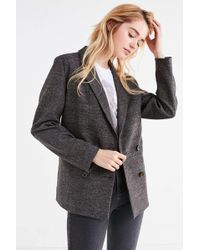 Urban Outfitters - Uo Double-breasted Wool Blazer - Lyst