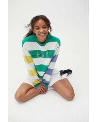 Benetton Striped Colorblock Sweatshirt - Green