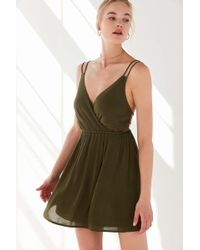 Ecote - Strappy Surplice Fit + Flare Dress - Lyst