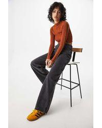 BDG Washed Black Wide-leg Puddle Jeans