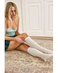 Urban Outfitters Uo Pointelle Knee High Socks - White