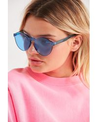 Urban Outfitters - Translucent Monocut Round Sunglasses - Lyst