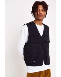 Urban Outfitters Uo Utility Vest - Blue