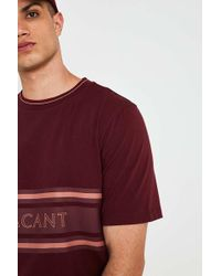 Urban Outfitters - Uo Vacant Burgundy Tipped T-shirt - Lyst
