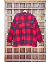 Urban Renewal - Vintage Red Plaid Men's Padded Flannel Jacket - Lyst
