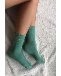 iets frans Khaki Sports Crew Socks - Green