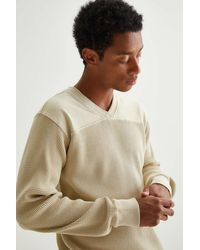 Standard Cloth Cozy Essential V-neck Tee - Natural