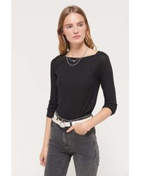 Out From Under - Luka Raglan Boat Neck Top - Lyst
