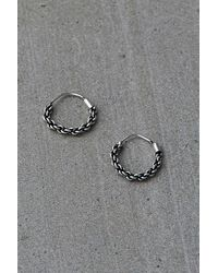 Urban Outfitters Sterling Silver Braided Mini Hoop Earrings - Metallic