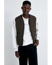 Urban Outfitters Uo Onion Reversible Quilted Gilet - Black
