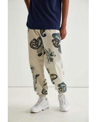 Urban Outfitters Uo Exploded Paisley Print Sweatpant - Gray