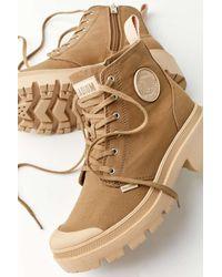 Palladium Pallabase Twill Boot - Natural