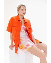 Urban Outfitters Uo Hugo Short Sleeve Safari Jacket - Orange