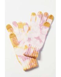Urban Outfitters Tie-dye Flat Knit Tech Glove - Pink