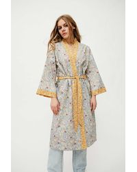 Urban Outfitters Milou Printed Robe - Green