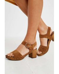 fce453fa099 Urban Outfitters - Uo Alana Wood + Leather Sandals - Womens Uk 5 - Lyst