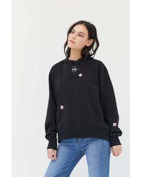 Nike Nike Embroidered Flower Hoodie Sweatshirt - Black
