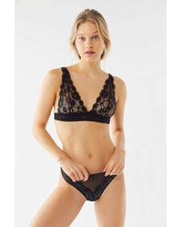 979f35a01c000 Urban Outfitters - Camellia Sheer Lace Triangle Bralette - Lyst