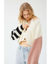 Truly Madly Deeply Piper Slouchy Balloon Sleeve Cardigan - Multicolor