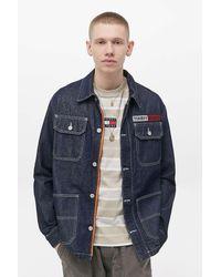 Tommy Hilfiger Oversized Indigo Denim Work Jacket - Blue